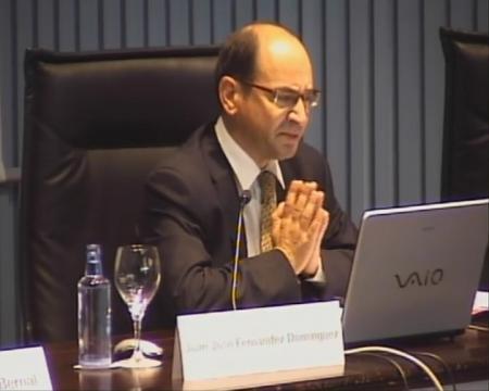 Juan José Fernández Domínguez, catedrático de Dereito do Traballo na Universidade de León. - Xornadas sobre Dereito Social e Administración Pública